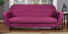 Rome Three Seater Sofa in Purple Colour