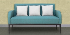 Rome Three Seater Sofa in Teal Colour