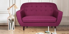 Rome Two Seater Sofa in Purple Colour