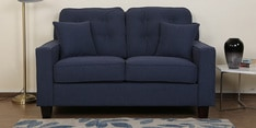 Rosario Two Seater Sofa in Navy Blue Color