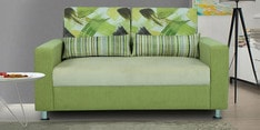 Rosetta Two Seater Sofa with Cushions in Green & Cream Colour