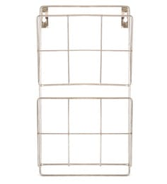 Royal Metal Square Design 100% Stainless Steel Double Shelf Magazine Rack