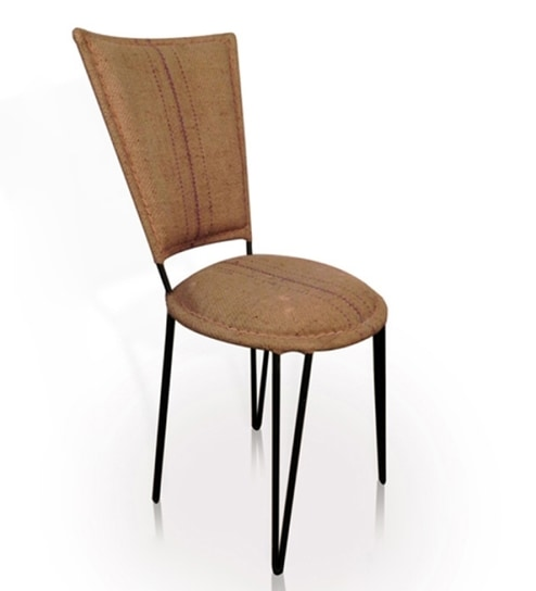 Mint Jute And Iron Chair