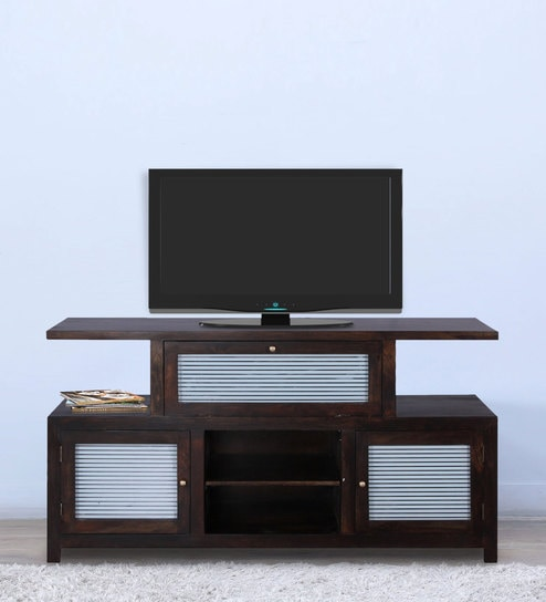 Rochester Entertainment Unit In Warm Chestnut Finish