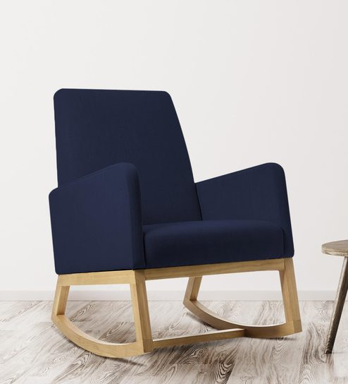 Wondrous Rocking Chair In Blue Colour By Adorn Homez Gamerscity Chair Design For Home Gamerscityorg