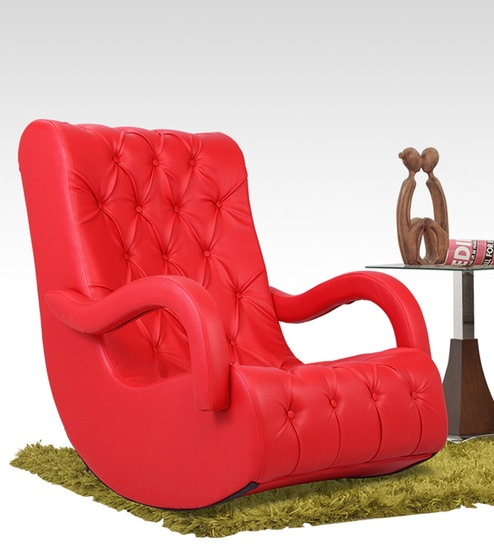 Marvelous Rocking Chair In Red Colour By Durian Download Free Architecture Designs Rallybritishbridgeorg