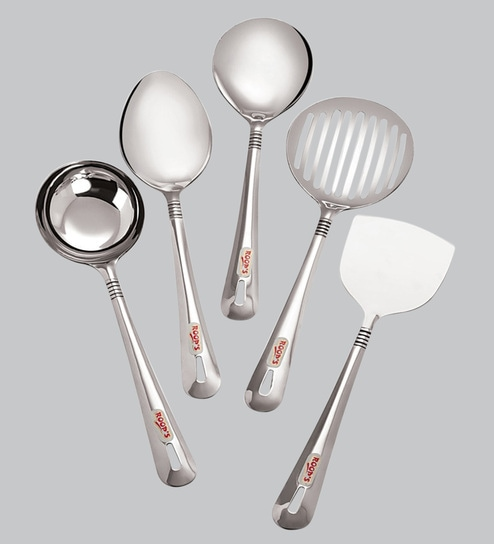 buy roops lovely stainless steel small serving spoon set online