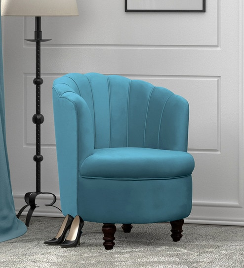 Admirable Rose Barrel Chair In Light Blue Colour By Peachtree Machost Co Dining Chair Design Ideas Machostcouk