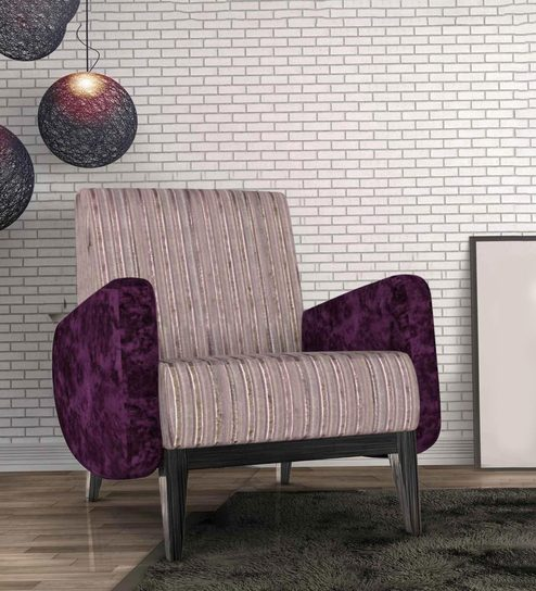 Ross Accent Chair In Purple Colour By Bent Online Chairs Pepperfry
