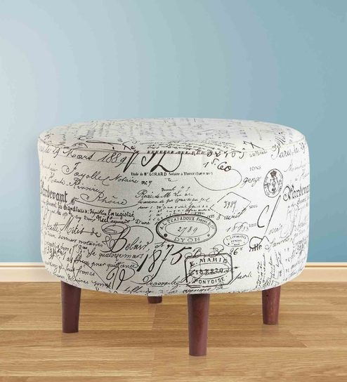 fabric ottomans slipcover ottoman round storage coffee large gray creative table cheap chic and