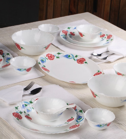 Imperial Peony 33-Piece Dinner Set by ROXX : imperial plate set - pezcame.com