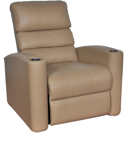 Swell Royal Single Seater Pvc Automatic Recliner In Camel Colour By Stylica Spiritservingveterans Wood Chair Design Ideas Spiritservingveteransorg