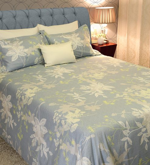 cdae7ca8662 Buy Rozala Floral Pattern 210 TC 100% Cotton Queen Size Bedsheet with 2  Pillow Covers by Amberville Online - Floral Queen Size Bed Sheets - Queen  Size Bed ...