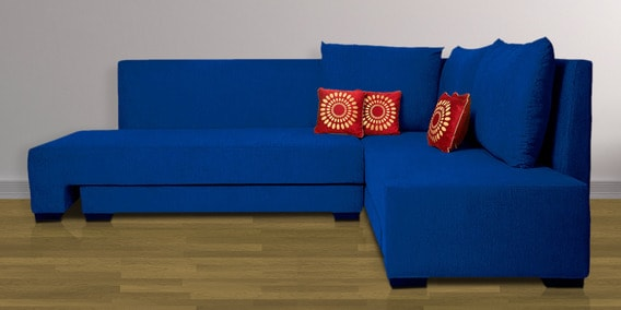 Ordinaire Rome L Shaped Sectional Sofa In Blue Color By Home City