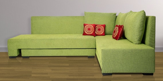 Buy Rome L Shaped Sectional Sofa In Light Green Color By Home City