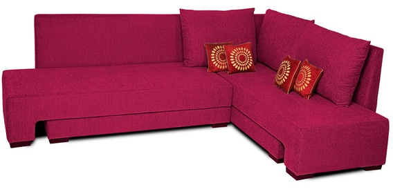 Rome L Shaped Sectional Sofa In Pink Color By Home City