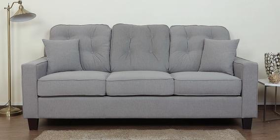 Buy Rosario Three Seater Sofa In Ash Grey Color By