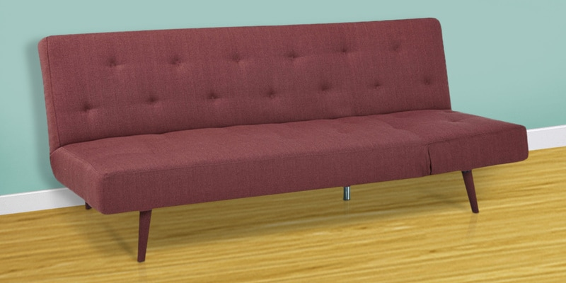 Rome Sofa cum Bed in Rusty Red Colour by HomeTown