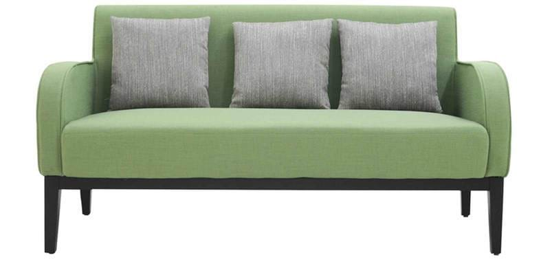 Buy Rome Three Seater Sofa In Green Colour By Furnitech