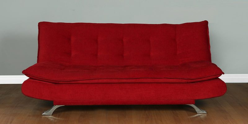 Royal Sofa cum Bed in Red Colour by Cloud9