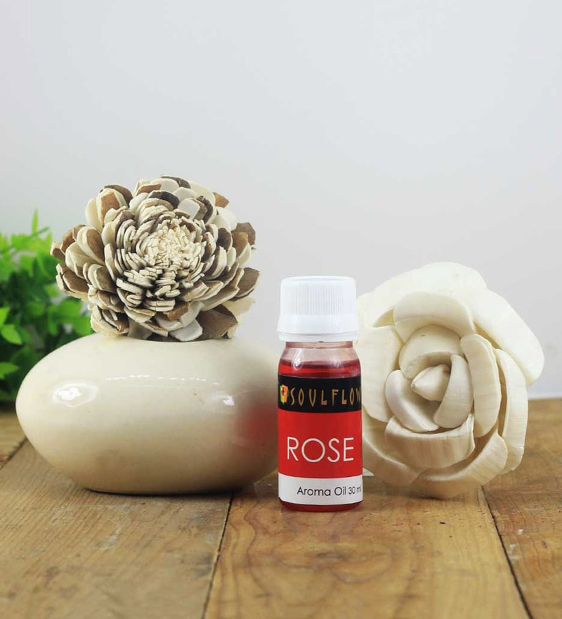 Rose Pebble Diffuser by SoulFlower