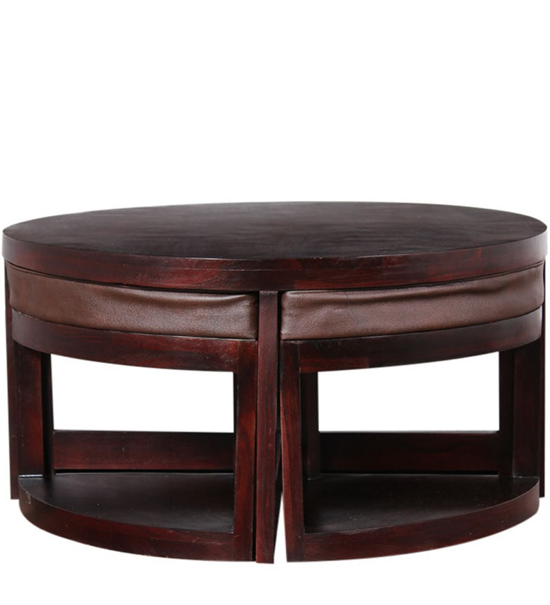 Greenwich Round Coffee Table Choice Of Size: Round Coffee Table With Stools By Mudramark Online