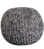 Rocca Knitted Cotton Pouffe in Grey Colour by Purplewood