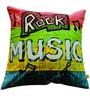 Rock Music (16 x 16) Cushion by L Orange