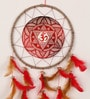 Rooh Dream Catchers Multicolour Wool Om Maroon Dream Catcher