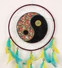 Multicolour Wool Yin Yang Dream Catcher by Rooh Dream Catchers