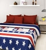 Rosepetal Multicolored Acrylic American Flag 95 x 85 Inch Double Bed Blanket