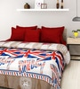 Rosepetal UK Flag Multicolored Acrylic Printed 95 x 85 Inch Double Bed Blanket