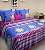 Rosepetal Multicolor Cotton Abstract Double Bed Sheet Set (with Pillow Covers)