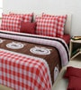 Rosepetal Multicolor Cotton Checkered Double Bed Sheet Set (with Pillow Covers)