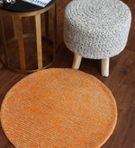 Orange Wool 28 Inch Area Rug