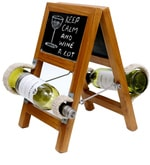 Rustic Ladder Style Wine Rack in Brown Finish