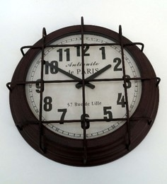 rust brown metal u0026 glass 16 x 35 x 16 inch vintage wall clock