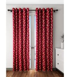 Rust Polyester Door Curtain
