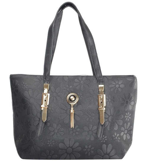 e78f98be9191 Buy RUBY Gray PU Ladies Hand Bag Online - Shopping Bags - Home ...