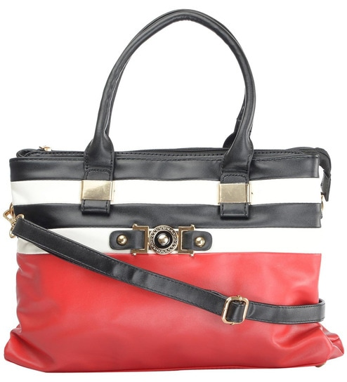 Buy RUBY Red PU 34 x 10 x 24 Inch Ladies Handbag Online - Shopping ... e1602645f9bd9