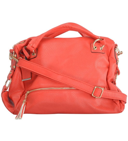 Buy RUBY Red PU Ladies Hand Bag Online - Shopping Bags - Home Storage -  Housekeeping   Organisers - Pepperfry Product 7e3c874b87307