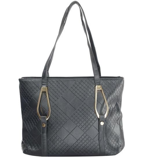 de2c1dcd Buy Ruby Stylish Black PU 42 x 14 x 26 Inch Women's Handbag Online -  Shopping Bags - Home Storage - Home Utilities - Pepperfry Product