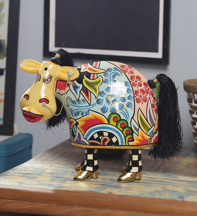 Multicolour Polyresin Rajhasthani Showpiece by Rural Craft