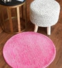 Pink Wool 28 Inch Area Rug by The Rug Republic
