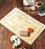Beige Cotton 24 x 39 Bath Mat - 1 Pc by Rugs to Clear