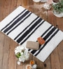 Black Cotton 20 x 31 Bath Mat - 1 Pc by Rugs to Clear