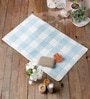 Angelina Bath Mat in Blue by Casacraft