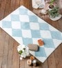 Feliciano Bath Mat in Blue by Casacraft