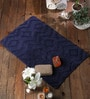 Rugs to Clear 20 x 31 Inch Navy Cotton Bath Mat