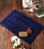 Barcelona Bath Mat in Blue by Casacraft
